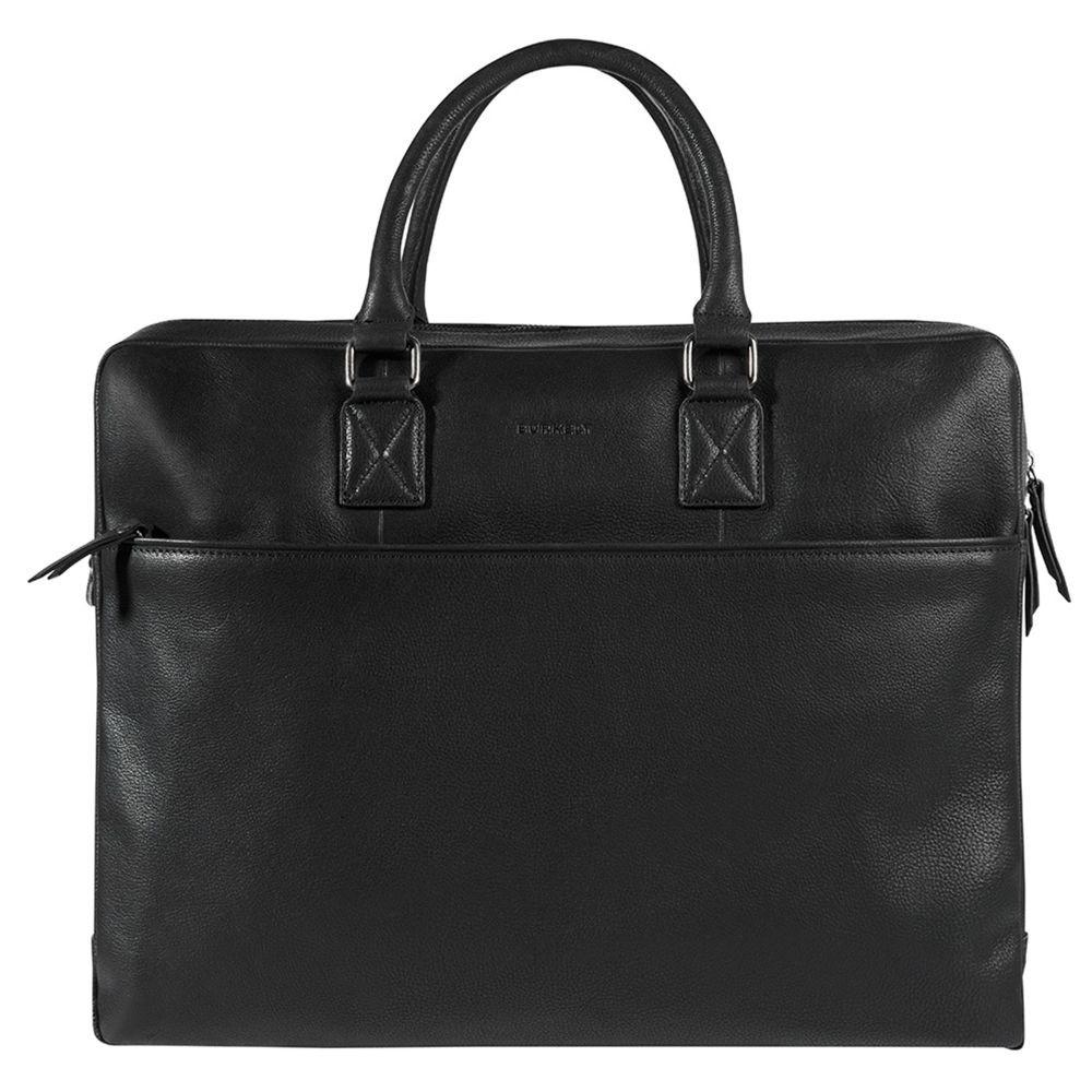 Pánska kožená taška na notebook Burkely Maxvel- čierna