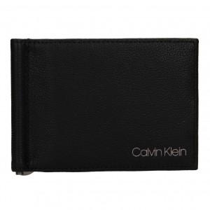Pánske kožené dolarovka Calvin Klein Elias - čierna