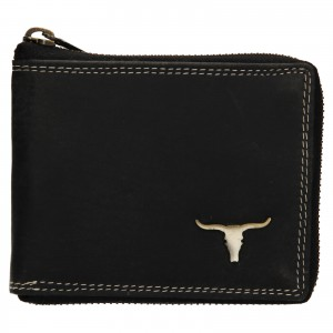 Pánska kožená peňaženka Wild Buffalo Neuron - čierna