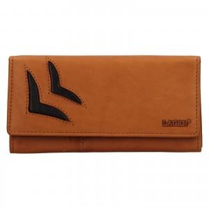 Dámska kožená peňaženka Lagen Selest - koňak
