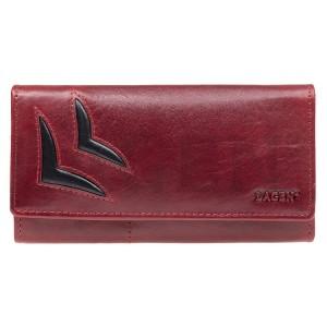Dámska kožená peňaženka Lagen Selest - červeno-čierna