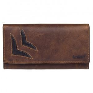 Dámska kožená peňaženka Lagen Selest - hnedá
