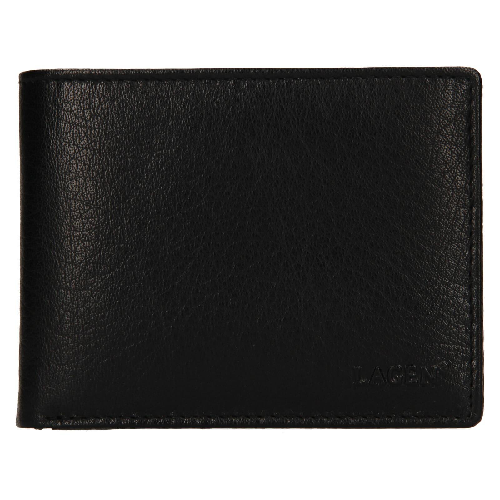 Pánska kožená peňaženka Lagen Kryštof - čierna