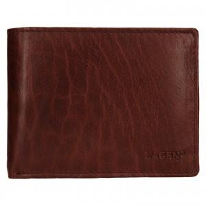 Pánska kožená peňaženka Lagen Kryštof - hnedá