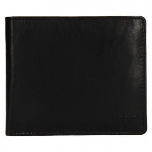 Pánska kožená peňaženka Lagen Niklas - čierna