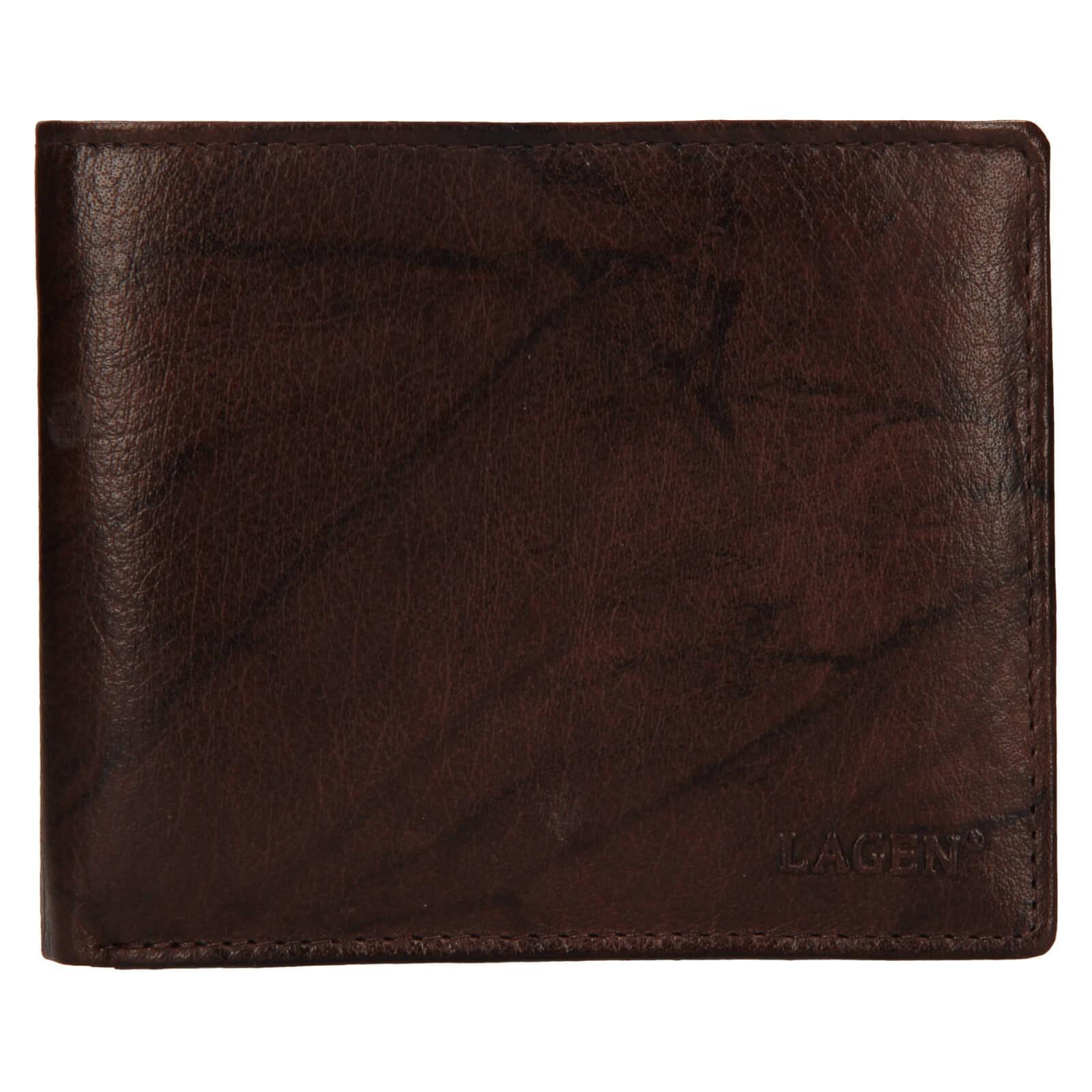 Pánska kožená peňaženka Lagen Niklas - hnedá