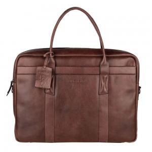Pánska kožená taška na notebook Burkely Dominic - hnedá