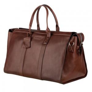 Kožená cestovná taška Burkely Weekender - čierna