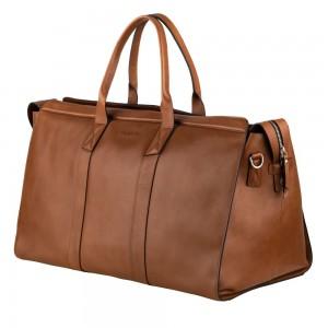 Kožená cestovná taška Burkely Weekender - koňak
