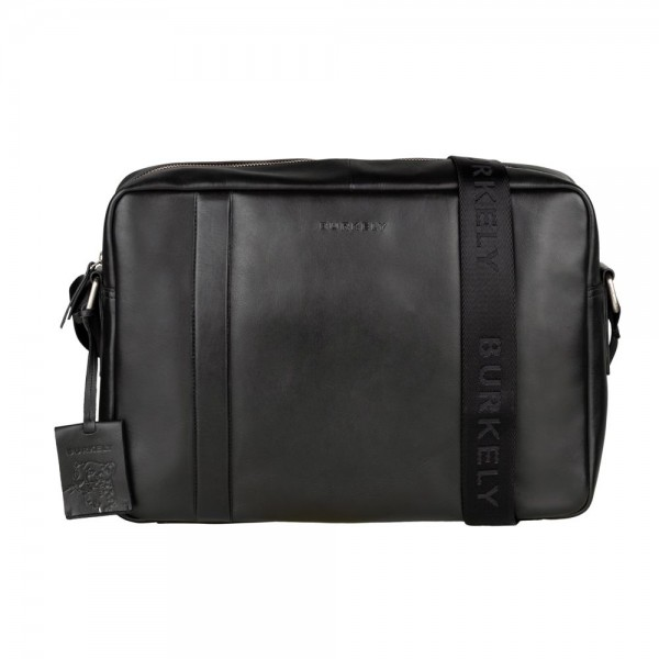 Pánska kožená taška cez rameno Burkely Laurel - čierna