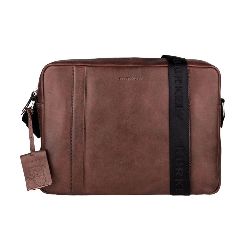 Pánska kožená taška cez rameno Burkely Laurel - hnedá