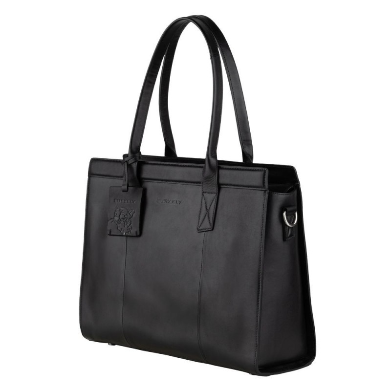 Dámska kožená kabelka Burkely Lenna - čierna