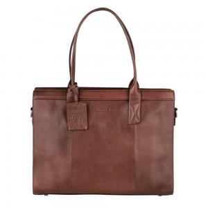 Dámska kožená kabelka Burkely Lenna - tmavo hnedá