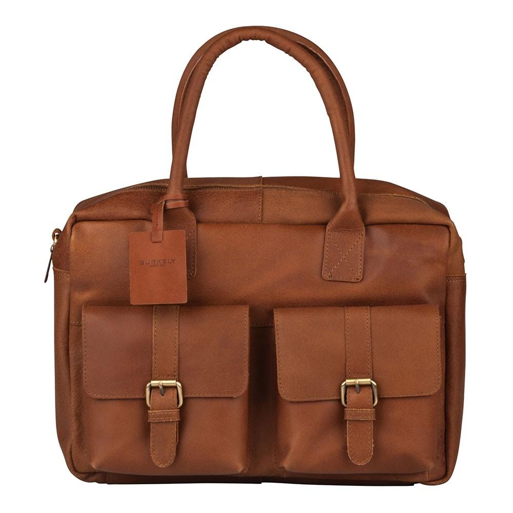 Pánska kožená taška na notebook Burkely Elen - koňak