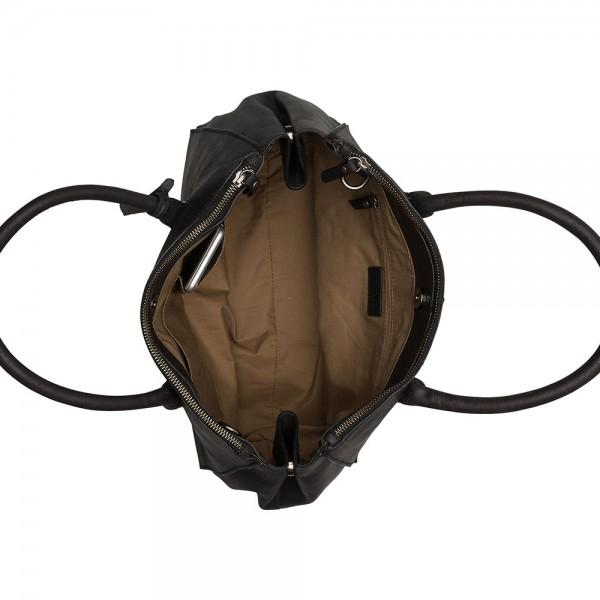 Dámska kožená kabelka Burkely Alice - čierna