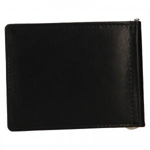 Pánska kožená dolarovka Lagen Keneth - čierna