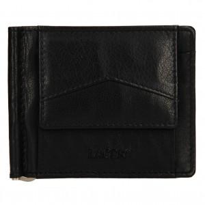 Pánska kožená dolarovka Lagen Picard - čierna