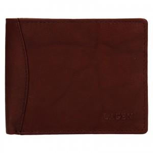 Pánska kožená peňaženka Lagen Felixe - hnedá