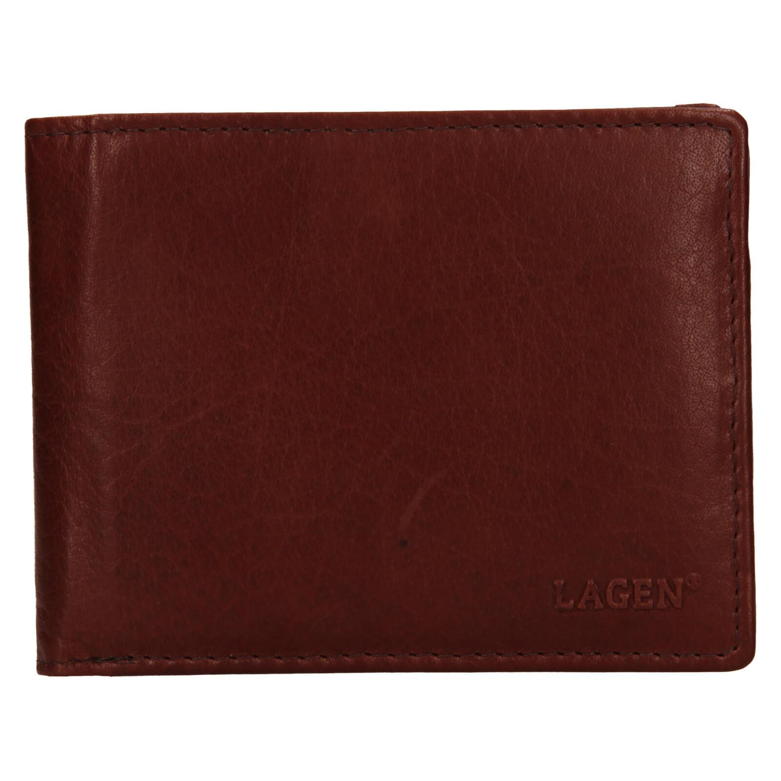 Pánska kožená peňaženka Lagen Alexej - hnedá