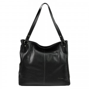 Dámska kožená kabelka Pierre Cardin Alice - čierna