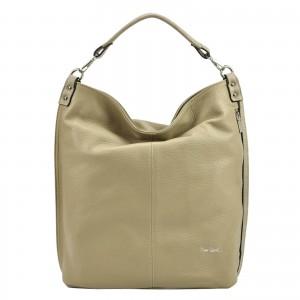 Dámska kožená kabelka Pierre Cardin Nella - béžová