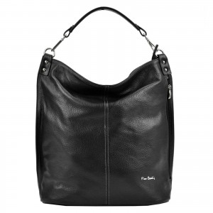 Dámska kožená kabelka Pierre Cardin Nella - čierna