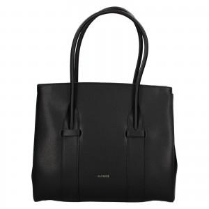 Dámska kožená kabelka Ripani Bussola - čierna