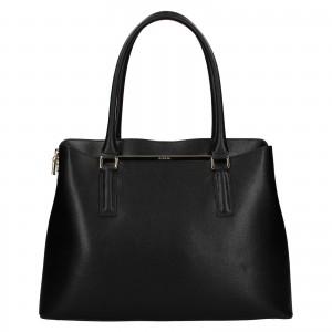 Dámska kožená kabelka Ripani Divina - čierna