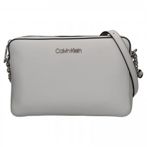 Dámska crossbody kabelka Calvin Klein Naoni - svetlo šedá