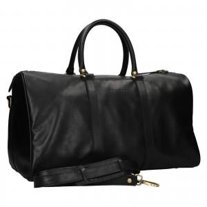 Kožená cestovná taška Facebag Davis - čierna