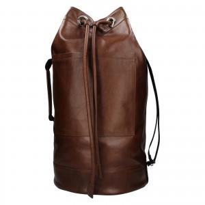 Kožený lodný vak facebag Bounty - koňak