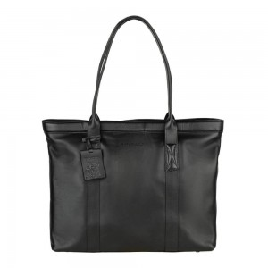 Dámska kožená kabelka Burkely Wide - čierna