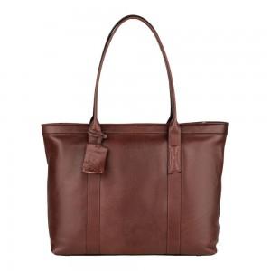 Dámska kožená kabelka Burkely Wide - tmavo hnedá