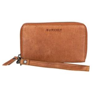 Dámska kožená peňaženka Burkely Wristlet - hnedá