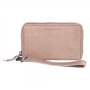 Dámska kožená peňaženka Burkely Wristlet - ružová