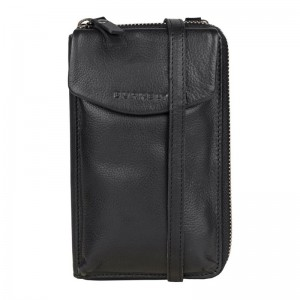 Dámska kožená peňaženko-kabelka Burkely Ghita - čierna