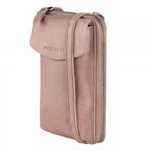 Dámska kožená peňaženko-kabelka Burkely Ghita - ružová
