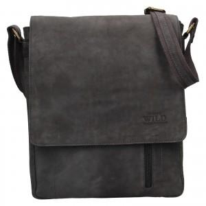 Pánska taška cez rameno Always Wild Knott - čierno-šedá