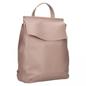 Dámsky kožený batoh Facebag Stella - svetlo ruzová