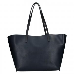 Dámska kožená kabelka Facebag 2v1 - tmavo modrá