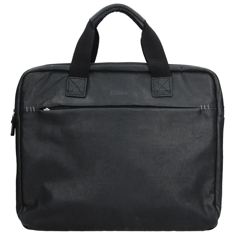 Pánska kožená taška cez rameno Katana Malvena - čierna