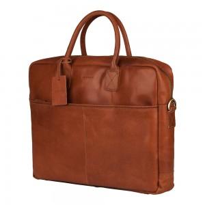 Pánska kožená taška na notebook Burkely Max - koňak