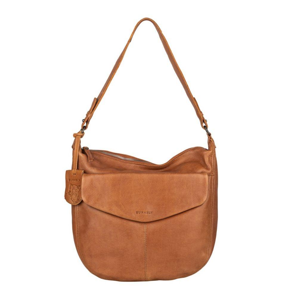 Dámska kožená kabelka cez rameno Burkely Hobo - koňak
