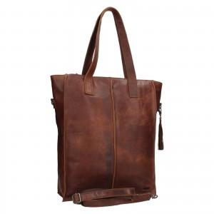 Dámska kožená kabelka Justified Monic - hnedá