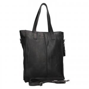 Dámska kožená kabelka Justified Monic - čierna