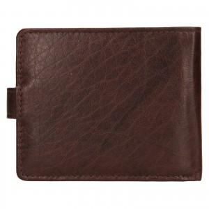 Pánska kožená peňaženka Lagen Ivan - tmavo hnedá