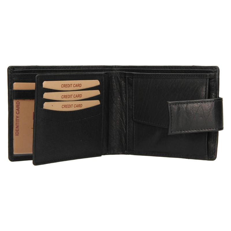 Pánska kožená peňaženka Lagen Jacki - čierna