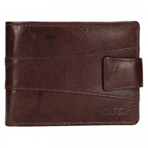 Pánska kožená peňaženka Lagen Kevin - tmavo hnedá