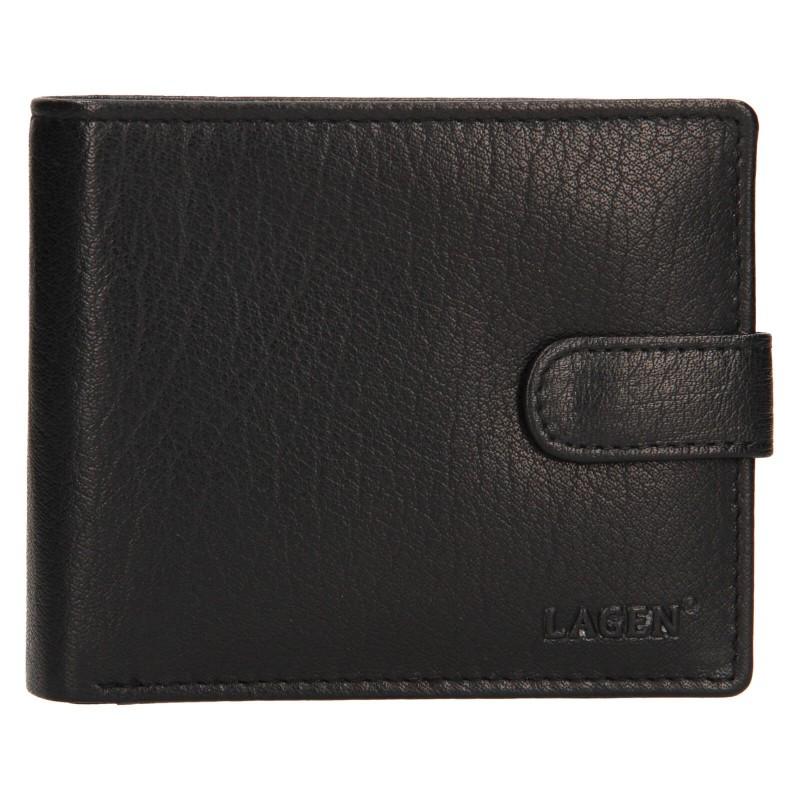 Pánska kožená peňaženka Lagen Fredint - čierna