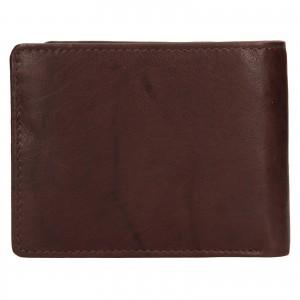 Pánska kožená peňaženka Lagen Kall - tmavo hnedá